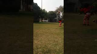 Priyanshi playing football