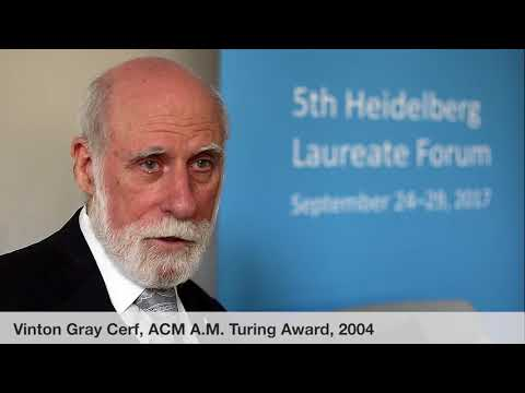 Laureate interviews at the 5th HLF: Vinton Gray Cerf