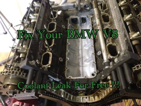 How To DIY BMW 540i 740i X5 M62 M62TU Valley Pan Gasket Replacement For Almost Free !!!  YouTube