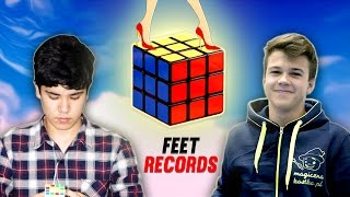Top 10 3x3 Rubik's Cube With Feet Speedcubers 2016