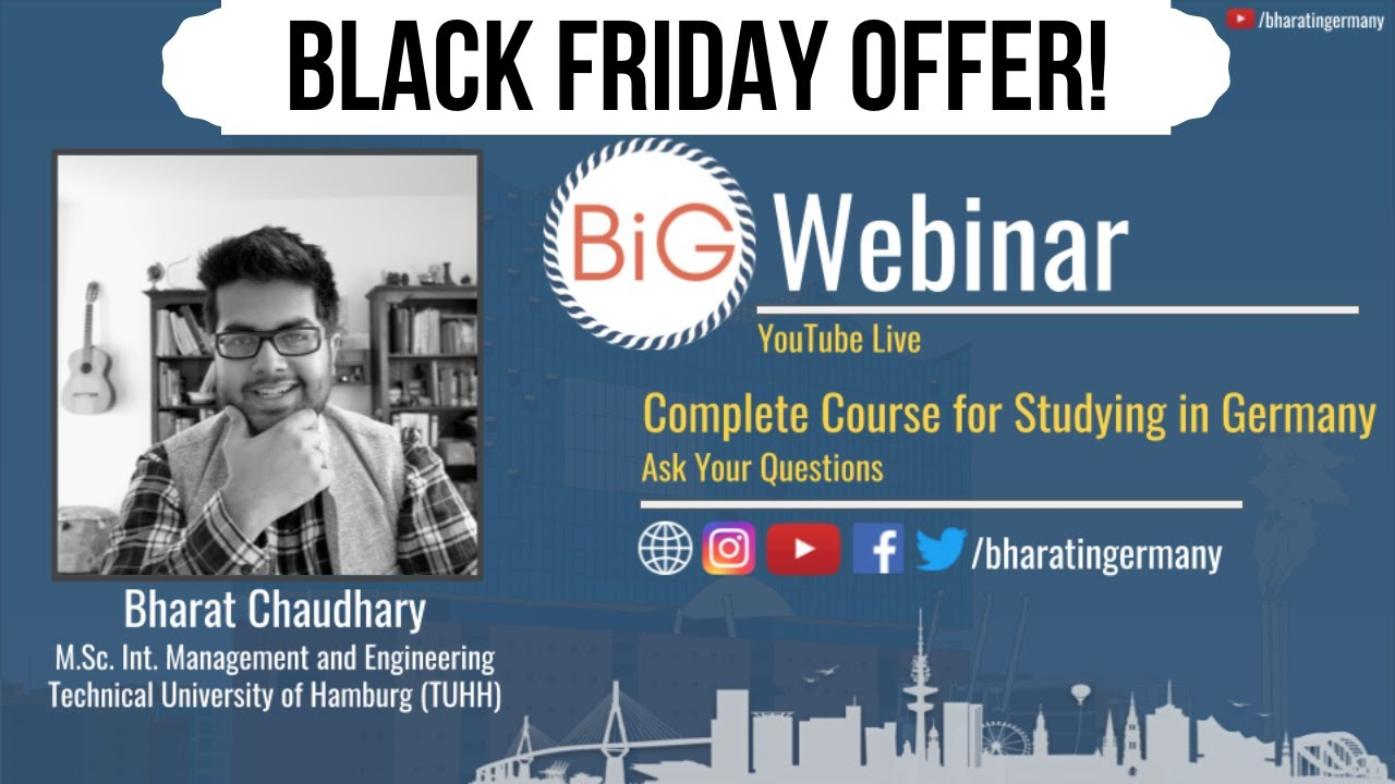 Black Friday Offer Complete Course For Studying In Germany Webinar Ask Your Questions Youtube