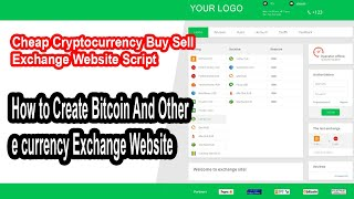 How to Create Bitcoin And Other e currency Exchange Website