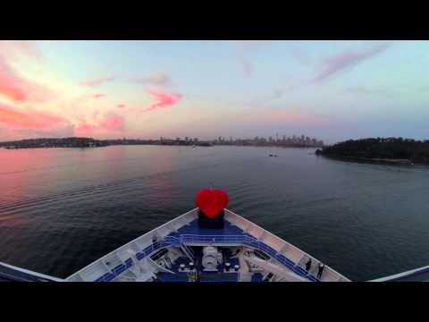 Princess Cruises Makes Heart-Stopping  Entrance to Sydney on Valentine's Day