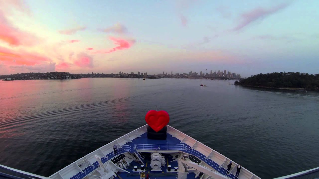 princess cruises makes heart stopping entrance to sydney on valentines day youtube - Valentines Day Cruises