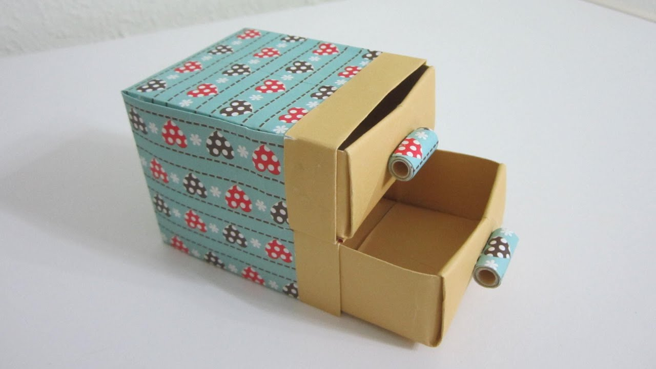 Tutorial how to make cute practical boxes shelf with for Making simple drawers