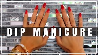 DIP POWDER SNS NAILS | Manicure Application Step By Step & Review