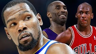 Kevin Durant Reveals His TOP 5 NBA GOAT's In Response To Steph Curry! Puts Jordan & Kobe On Top!