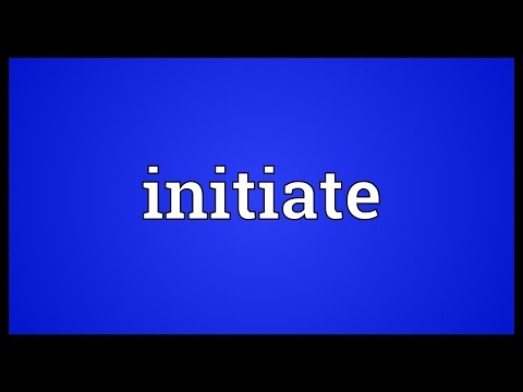 Initiate Meaning