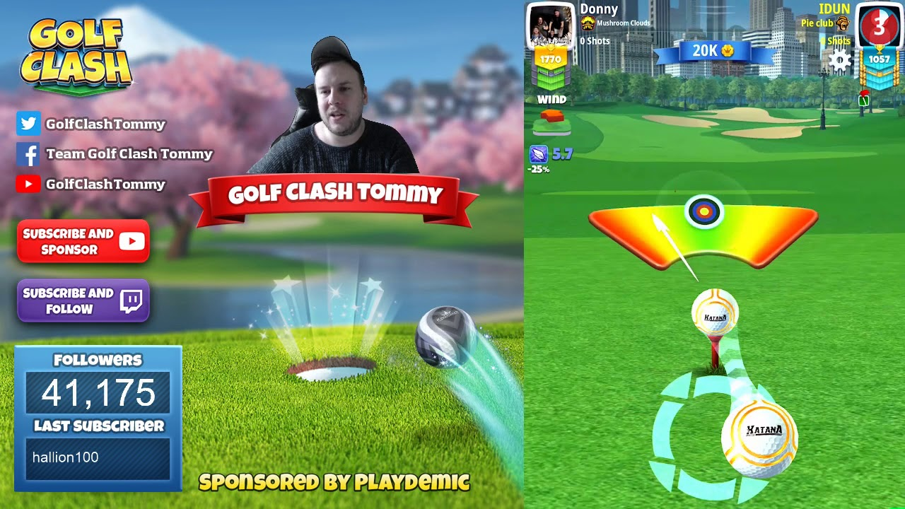 Golf Clash Tips Playthrough Hole 1 9 Pro Tournament Wind Skyline Cup Tournament Youtube