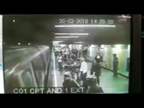 Usuario del Metro de Caracas se lanzó a las vías (VIDEO)