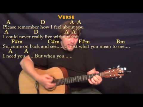 I Need You (The Beatles) Guitar Cover Lesson in A with Chords/Lyrics
