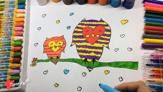 Learn Colors with Owl for Kids, Animation for Kids, Colours Learning Videos for Children Toddl