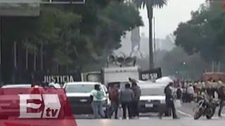 Antorcha campesina en marcha rumbo al Zócalo / Vianey Esquinca