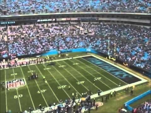 Edwin McCain sings the National Anthem at the Carolina Panthers game Dec. 9, 2012