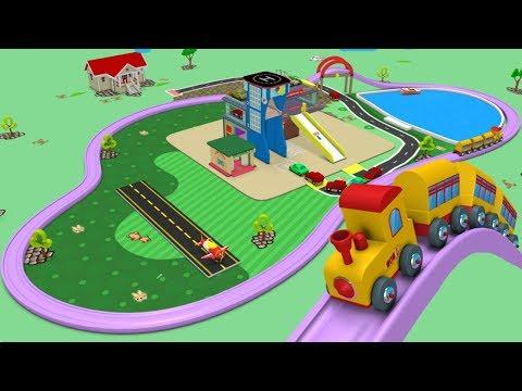 Cartoon Cartoon - Toy Factory Train - Choo Choo Train - Toy Train for Children - Car Cartoon - Toy