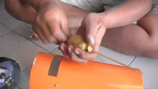 cara membuat KENTANG SPIRAL menggunakan pisau ulir tabung
