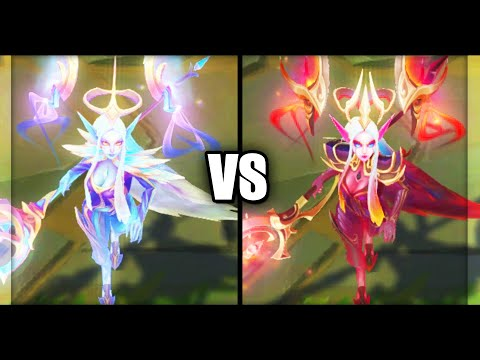 Dawnbringer Soraka vs Nightbringer Soraka Legendary Skins Comparison (League of Legends)
