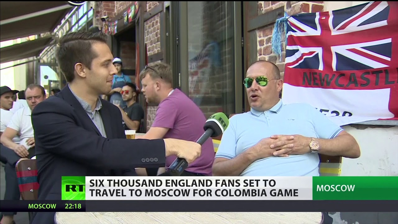Six thousand England fans set to travel to Moscow for Colombia game