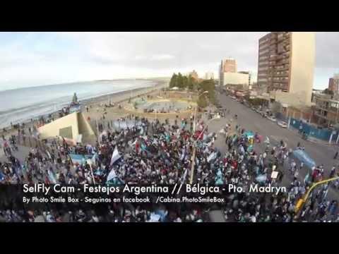 SelFly Cam - Festejos Argentina // Bélgica - Pto. Madryn