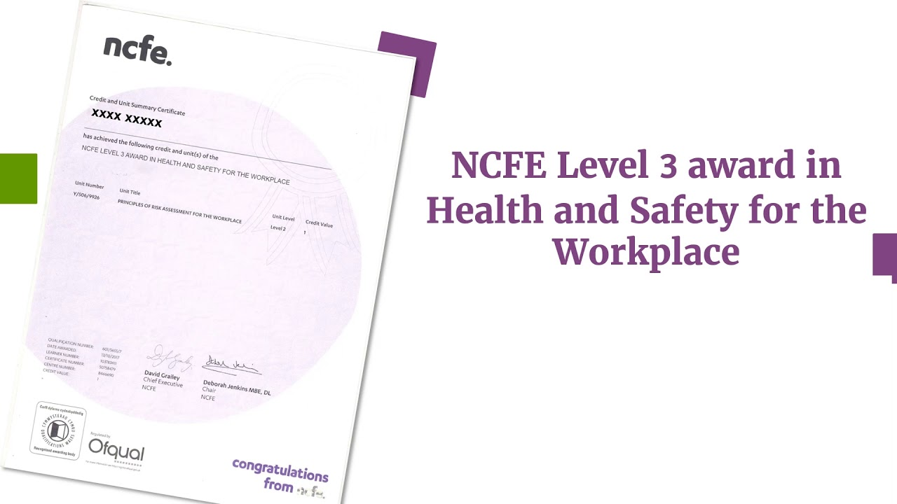 what is ncfe level 1 equivalent to