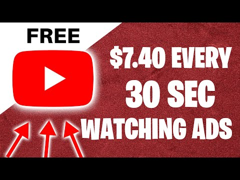 Earn $7.40 Every 30 Seconds WATCHING ADS (Make Money Online)