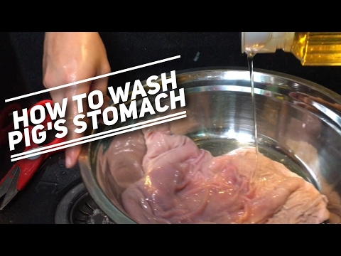 How to Wash Pig's Stomach (hog maw)