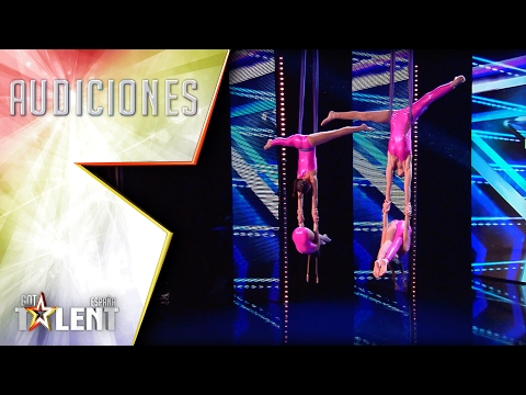 ¡Las chicas de 'Air MDD' vuelan sobre el escenario!   Audiciones 6   Got Talent España 2017