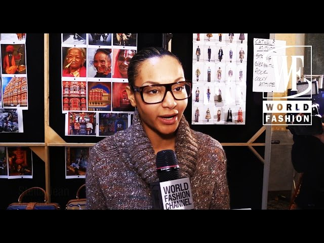Front Row Stella Jean Fall-Winter 15-16 Milan Fashion Week