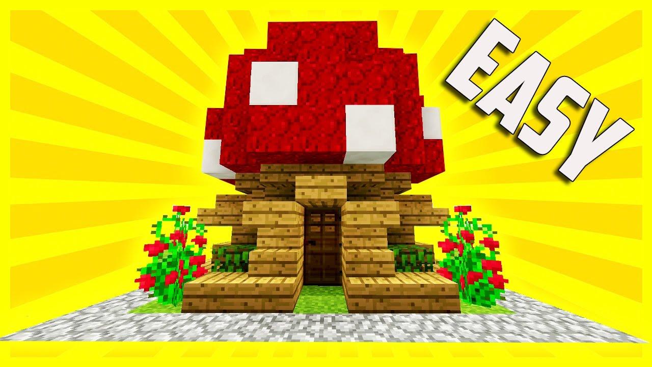 Simple Compact Amp Efficient Survival Mushroom House Minecraft Tutorial YouTube