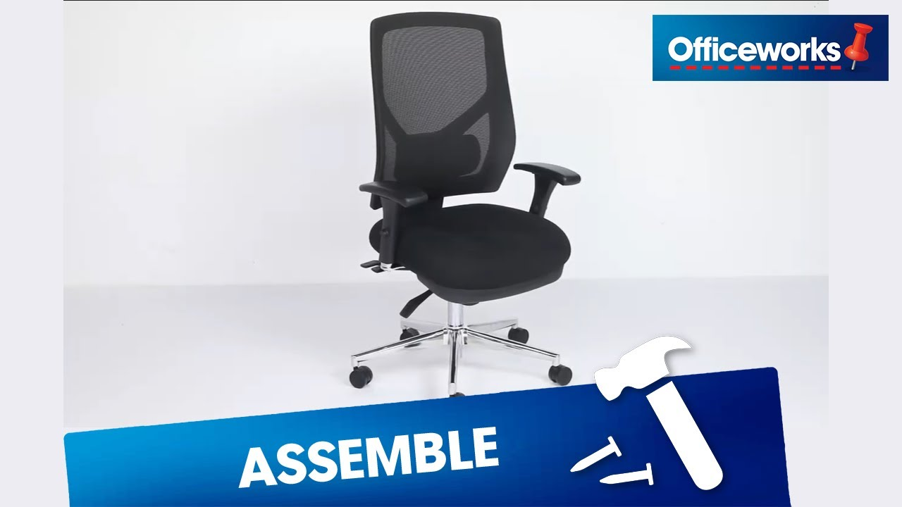 Professional Ll Ergonomic Chair Assembly Instructions Youtube
