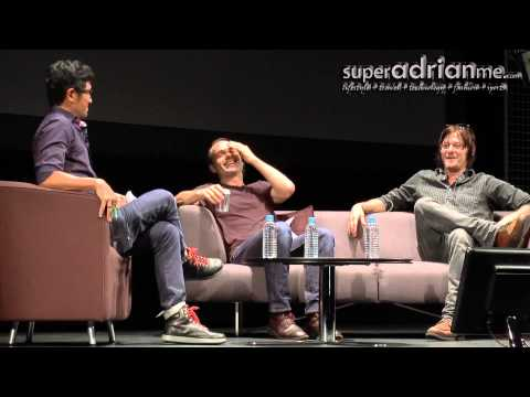 Andrew Lincoln & Norman Reedus Funny Moments in Singapore