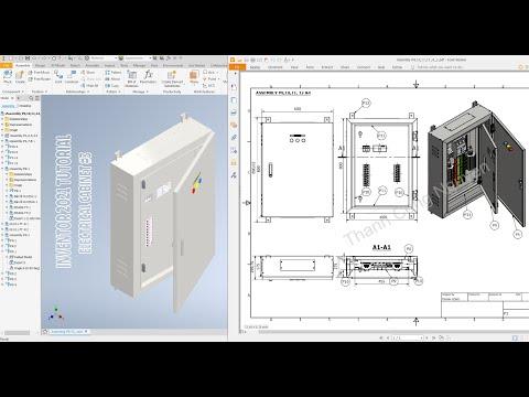 Autodesk Inventor 2021 Tutorial E15 - Electrical cabinet #3