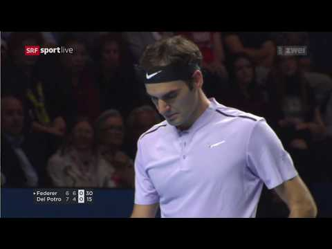 Swiss Tennis Basel Indoors 2017 Final Federer Del Potro