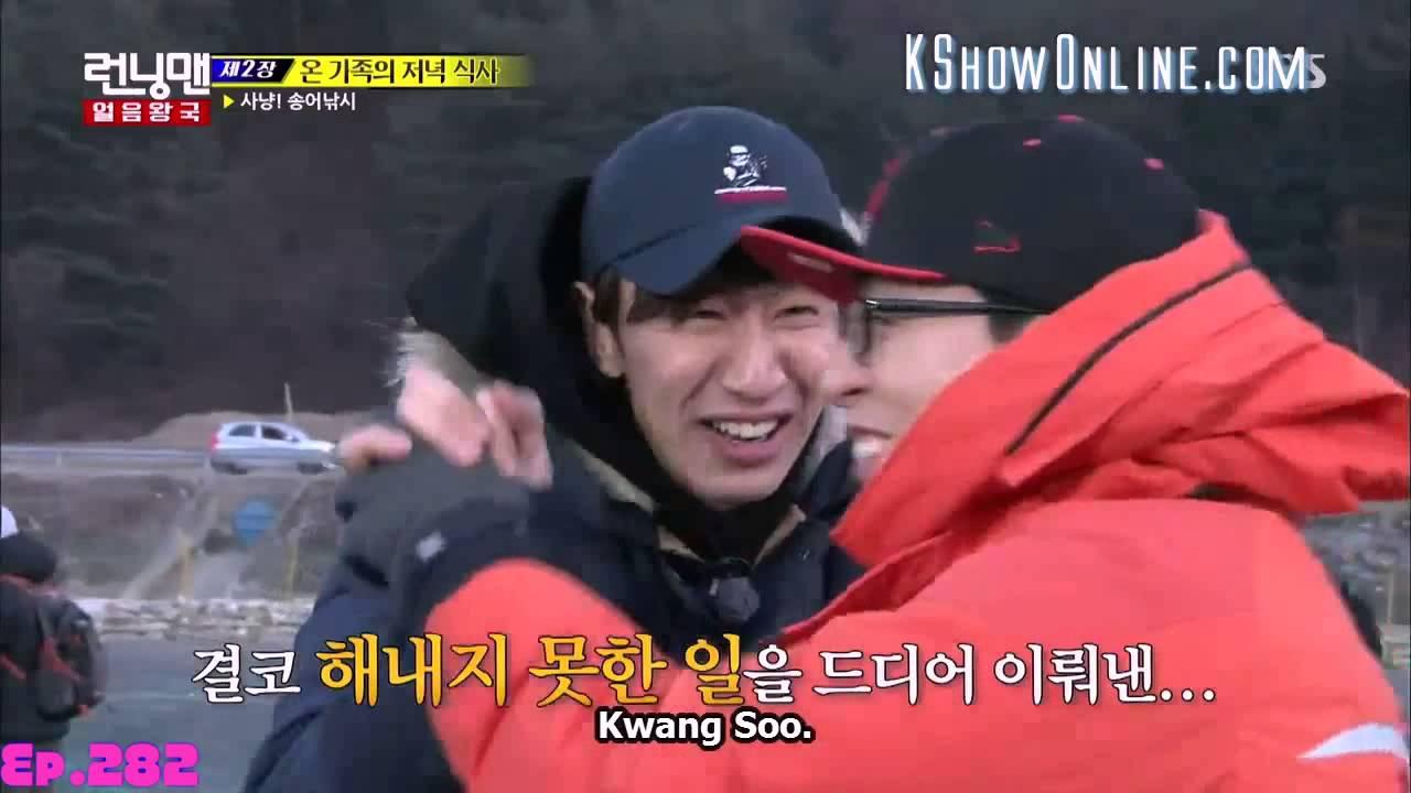 [ENG SUB] Running Man Yoo Jae Suk & Kwang Soo Caught a Fish