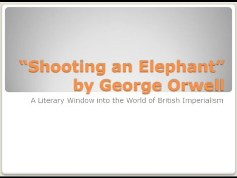 34. Shooting an Elephant by George Orwell — A Literary Window of British Imperialism