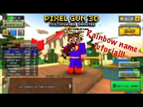 Rainbow Name In Pixel Gun 3D Tutorial YouTube