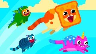 ЛЕТАЮЩИЕ КОТЫ #1 Милые Веселые котики в мультяшной игре с Кидом и котятами #крутилкины