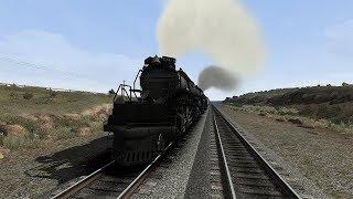 Часть 2 Паровозная   Union Pacific Big Boy маневры,собираем состав