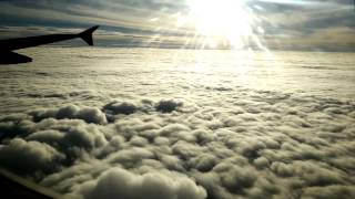 Airplane Above The Clouds Taking Off Flying And Landing AMAZING