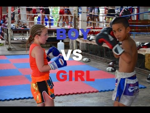 girls boxing boys naked