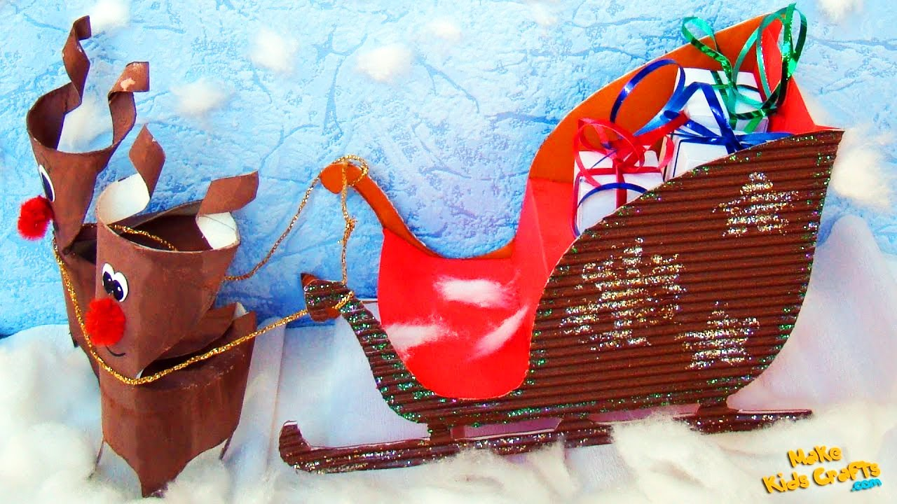 how to make a santa sleigh christmas decorations diy youtube