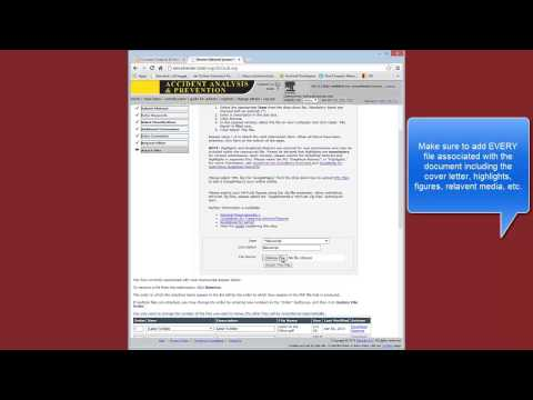 How To Submit an Article in Elsevier Journal - YouTube