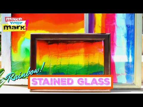colorful-rainbow-stained-glass-window---upcycled-diy