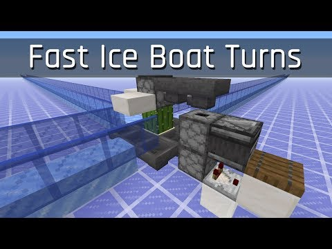 Fast Ice Boat Turns | Minecraft 1.13