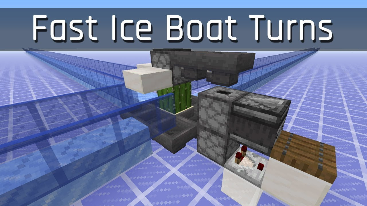 Fast Ice Boat Turns Minecraft 1 13 Youtube This is the bedrock version of an ice highway. fast ice boat turns minecraft 1 13