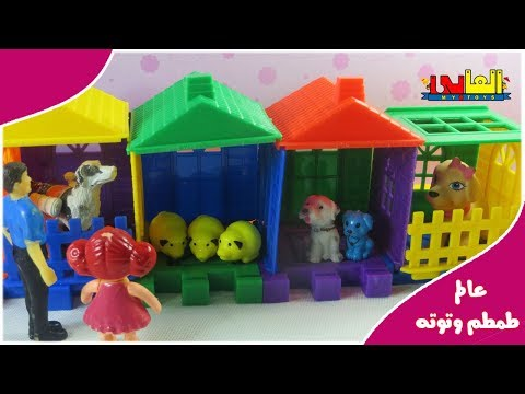 Puppy and baby doll and pet shop toys  baby doli play