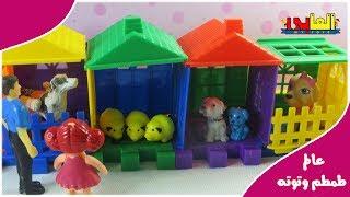 لعبة طمطم  والعيلة في محل الحيوانات بتشترى كلب ياترى هتختار مين !  أجمل قصص للأولاد والبنات