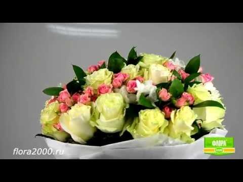Цветы с доставкой на 8 марта. Букет Бело-розовый нежный