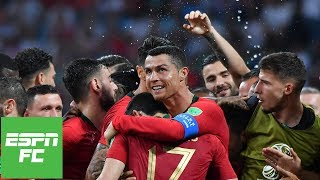 Cristiano Ronaldo Hat Trick vs Spain | Portugal fans