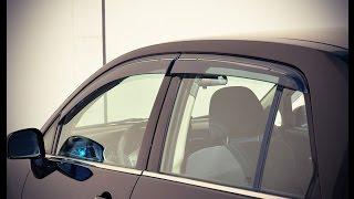 WELLvisors side window deflector vent visor Installation Video NISSAN VERSA SEDAN 07-11